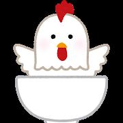 鶏丼のイラスト