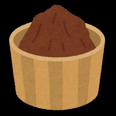 赤味噌のイラスト