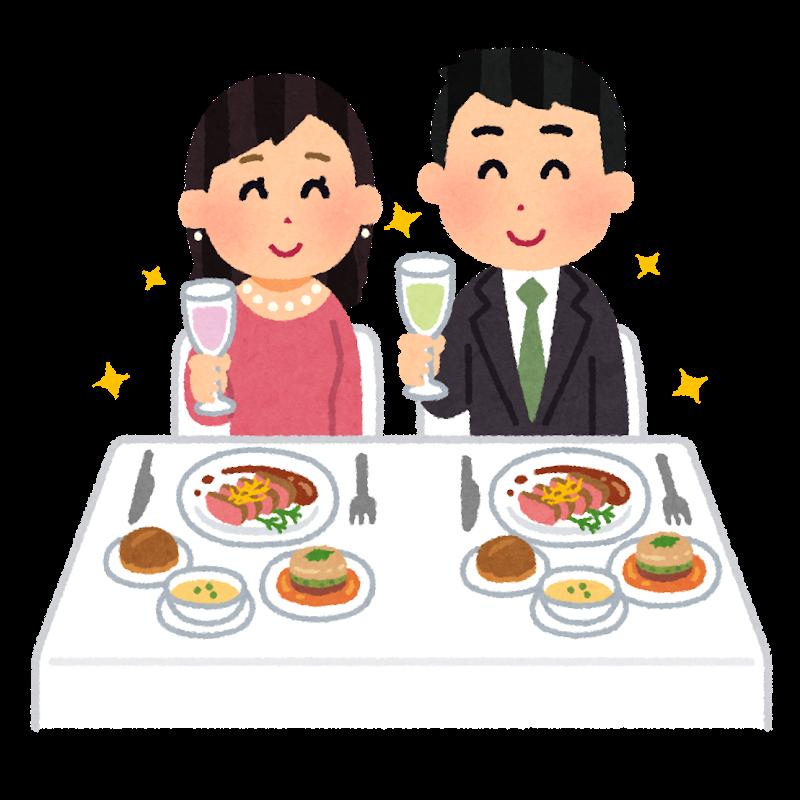 レストランでペアリングを楽しむカップルの画像