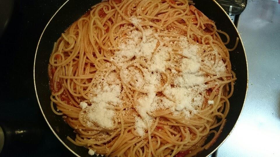 トマトパスタの写真