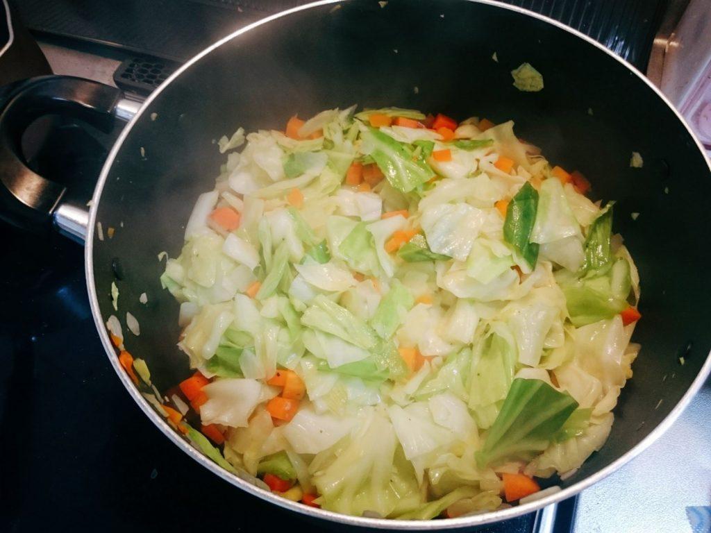 野菜がしんなりしてきた写真