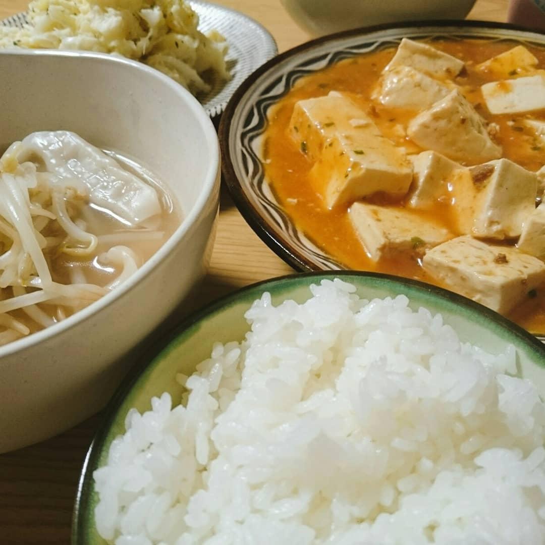 サクッと30分で麻婆豆腐と水餃子とポテトサラダを作っちゃいます
