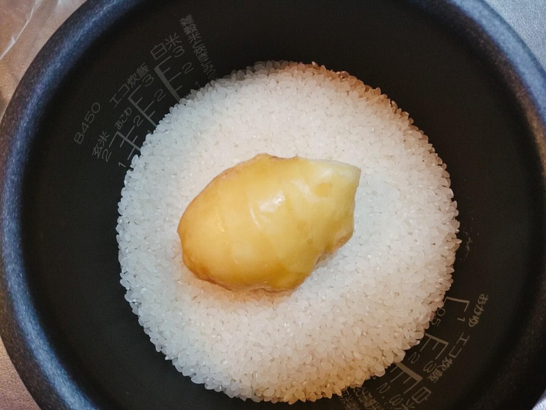 生姜ごはんの材料の写真